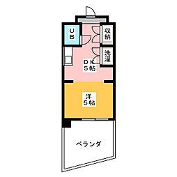 シャンクレール植田[1階]の間取り