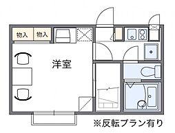 東京都町田市成瀬が丘2丁目の賃貸アパートの間取り
