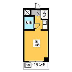 アルファ富田町[3階]の間取り