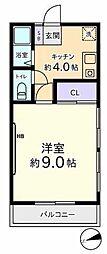 東京都立川市柴崎町4丁目の賃貸アパートの間取り