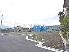 接道状況および現場風景 府中市小柳町2丁目