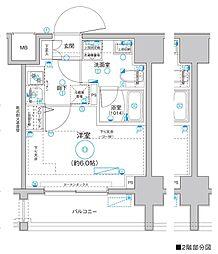 Le'a MARKS横濱 2階1Kの間取り