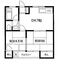 下石原プラザ[2階]の間取り