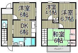 [テラスハウス] 神奈川県鎌倉市玉縄3丁目 の賃貸【/】の間取り