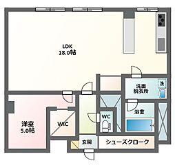 駒川エンビイハイツ[2階]の間取り