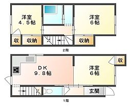 岡山県岡山市南区築港栄町の賃貸アパートの間取り