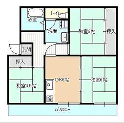 あかかべマンション[406号室]の間取り