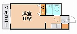 メゾンド祇園[6階]の間取り