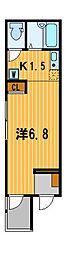 神奈川県横浜市鶴見区生麦3の賃貸アパートの間取り