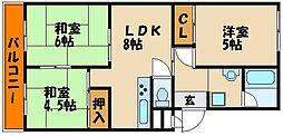 兵庫県明石市王子2丁目の賃貸マンションの間取り