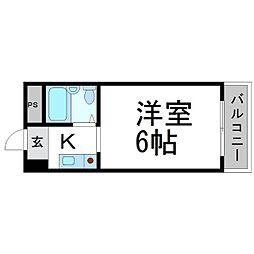 プリエール名神尼崎[9階]の間取り