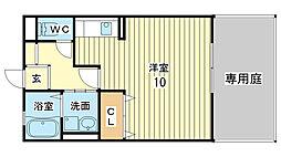メゾン ルエ西蒲田[106号室]の間取り