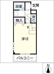 プラシードマンション明成[3階]の間取り