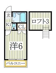 メゾンドネオ柏[2階]の間取り