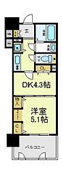 大阪府大阪市天王寺区大道3丁目の賃貸マンションの間取り