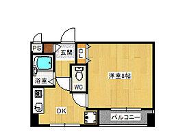 大阪府八尾市荘内町2丁目の賃貸マンションの間取り