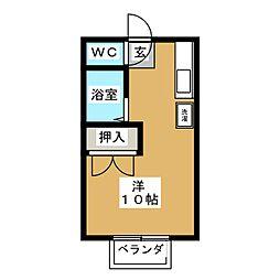 小川ハイツC棟[1階]の間取り