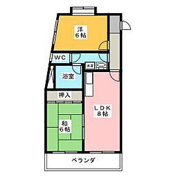 アーサー須ヶ口[1階]の間取り