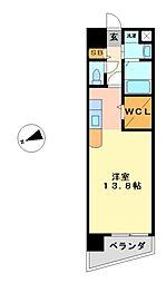 ベルドミール橘[8階]の間取り