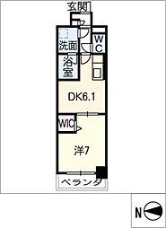 スプリームヒルズ鶴舞[3階]の間取り