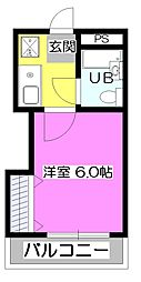 東京都清瀬市下清戸3丁目の賃貸マンションの間取り