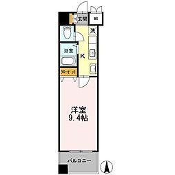 カスタリア志賀本通[1003号室]の間取り