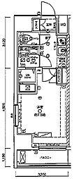 東京メトロ日比谷線 三ノ輪駅 徒歩12分の賃貸マンション 2階1Kの間取り
