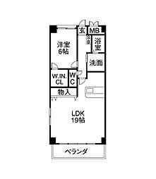 CSP NAGOYA(シーエスピーナゴヤ)[4階]の間取り