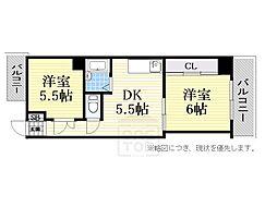 ホワイトハイツ[6階]の間取り