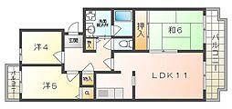 ドミール1061[4階]の間取り