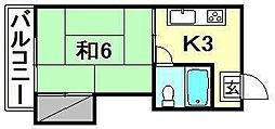 コーポ福原[302 号室号室]の間取り