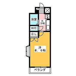 愛知県名古屋市名東区高社1丁目の賃貸マンションの間取り