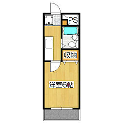 さわらびマンション[302号室]の間取り