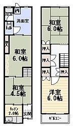 [一戸建] 大阪府守口市大宮通1丁目 の賃貸【/】の間取り
