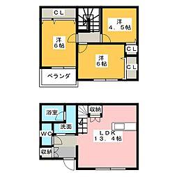 [一戸建] 愛知県名古屋市緑区藤塚1丁目 の賃貸【愛知県 / 名古屋市緑区】の間取り