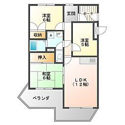 ガーデンハイツ桃山台 弐番館[1階]の間取り