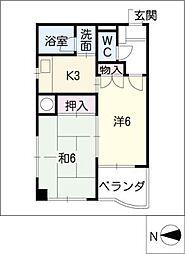 MK 平安[9階]の間取り