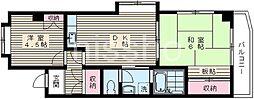 4784-クレール佐々[3階]の間取り