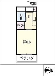 イザワハイム[4階]の間取り