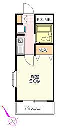 クリーンハイツ坂戸[3階]の間取り