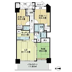 ライオンズタワー仙台広瀬 15階3LDKの間取り