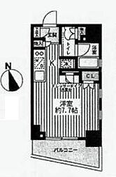 プレイアデ銀座エスト[2階]の間取り