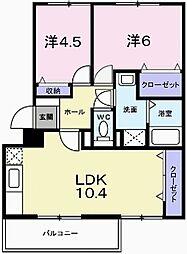 兵庫県加西市北条町古坂7丁目の賃貸マンションの間取り