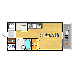 シエテ矢田[2階]の間取り