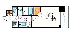 名古屋市営東山線 新栄町駅 徒歩4分の賃貸マンション 2階1Kの間取り