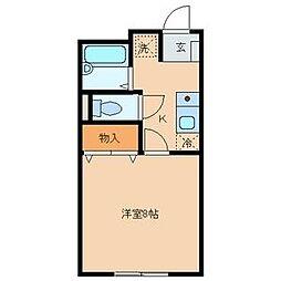 アパート若葉[1-3号室]の間取り