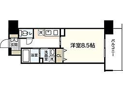 広島県広島市中区小網町の賃貸マンションの間取り