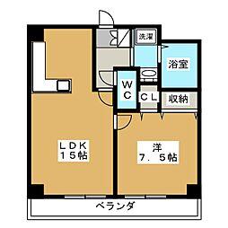 リーガル京都河原町五条[7階]の間取り
