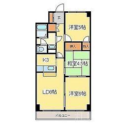 北海道札幌市東区北四十一条東6丁目の賃貸アパートの間取り
