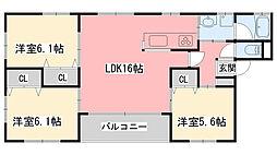 LA・BRISE Nishinomiya[301号室]の間取り